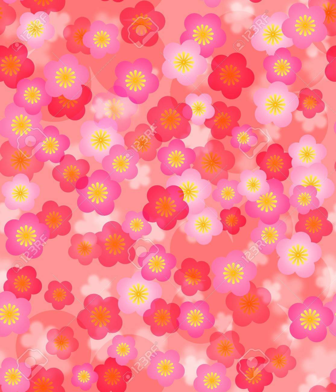 春の時間桜シームレスなタイル パターン背景イラスト ロイヤリティー