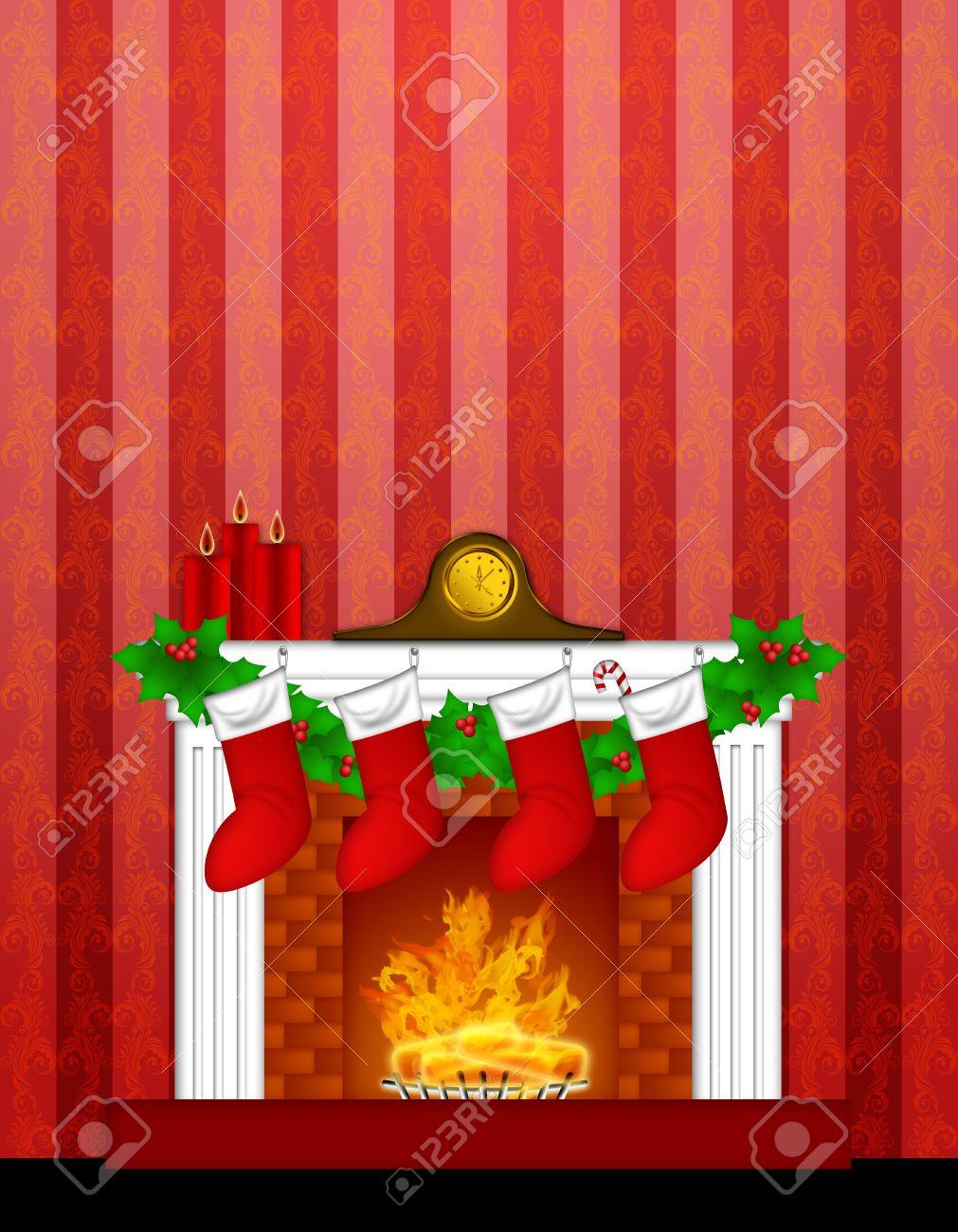 Yule Log Burning Wallpaper