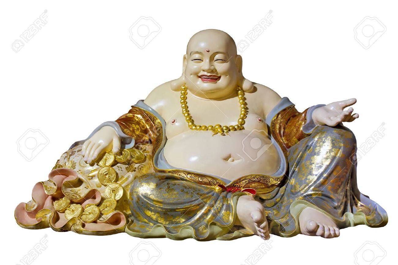 Big Belly Maitreya Cloth Bag Monk Buddha Statue Isolated On White Stock Photo Picture And Royalty Free Image Image 12383947
