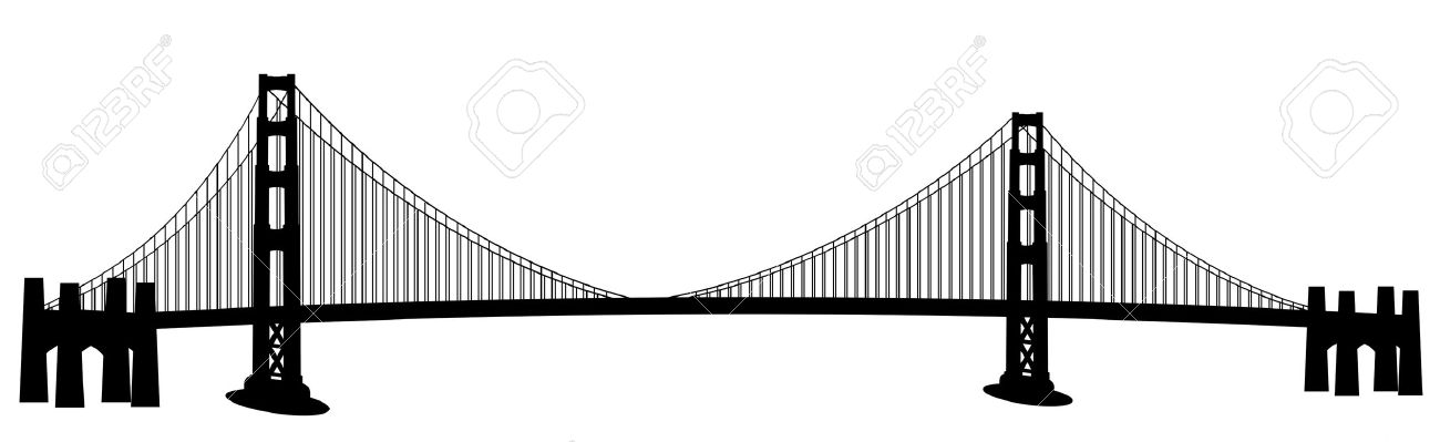 Golden Gate Bridge Drawing Clip Art San Francisco Golden Gate
