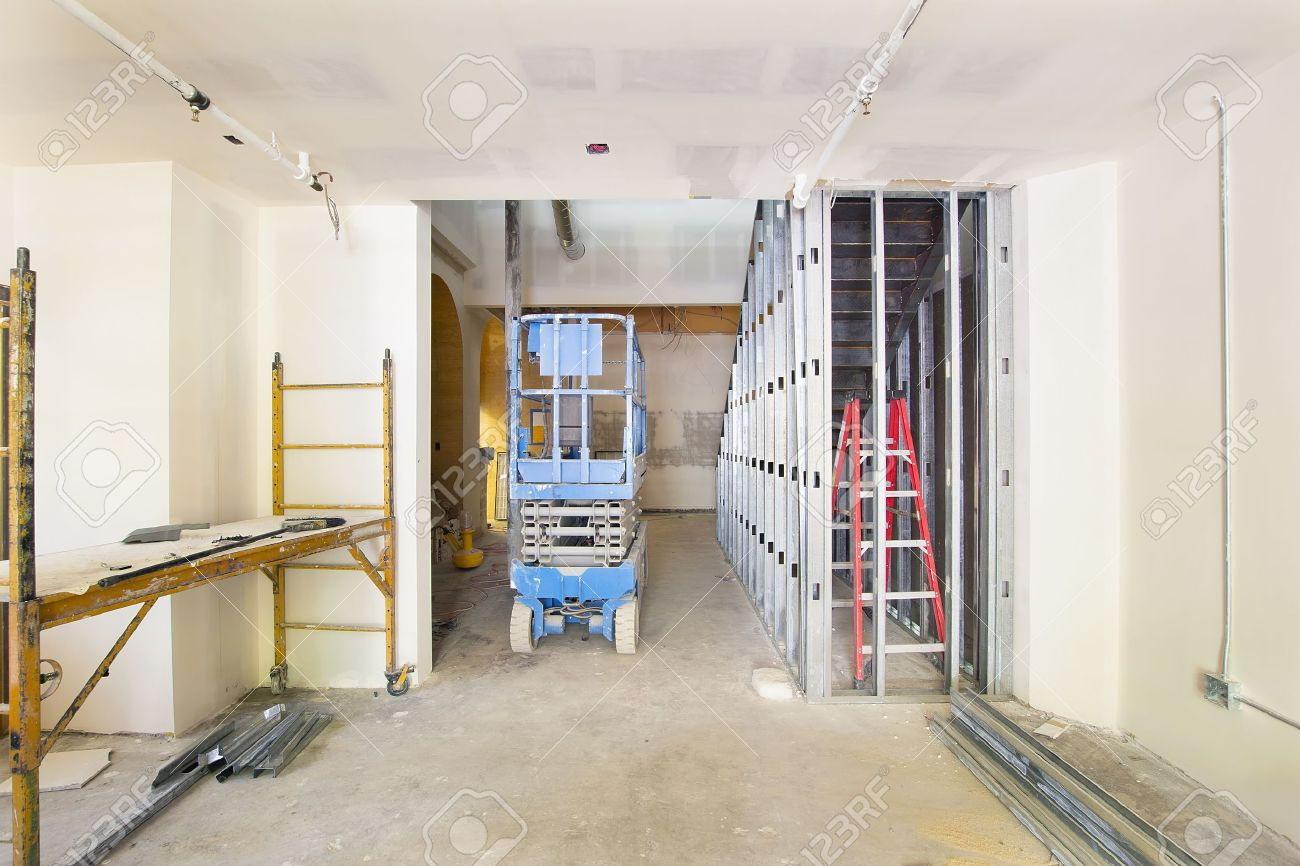 Drywall And Framing With Metal Studs In Commercial Space ...
