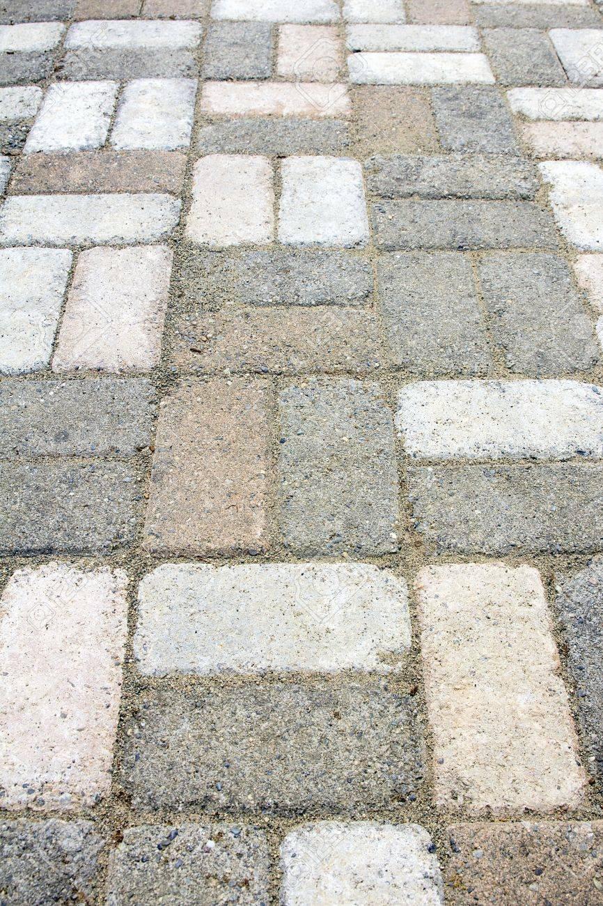 Basket weave brick pattern - Garden Concrete Brick Pavers Basket Weave Pattern Closeup Stock Photo 14962430