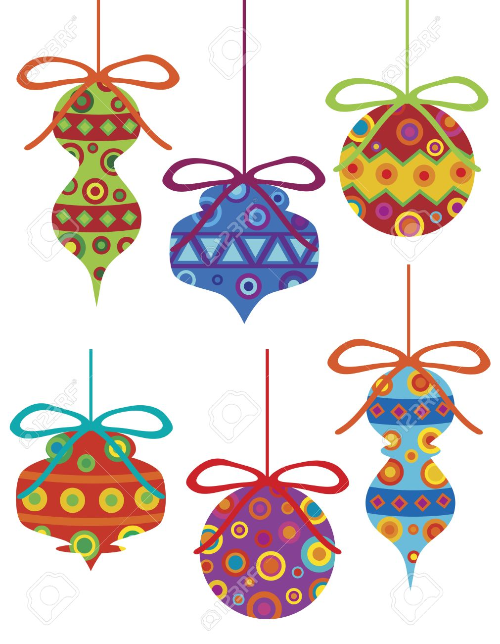 Christmas Tree Ornament with Bright Colorful Tribal Motifs Illustration Isolated on White Background Stock Vector - 16729382