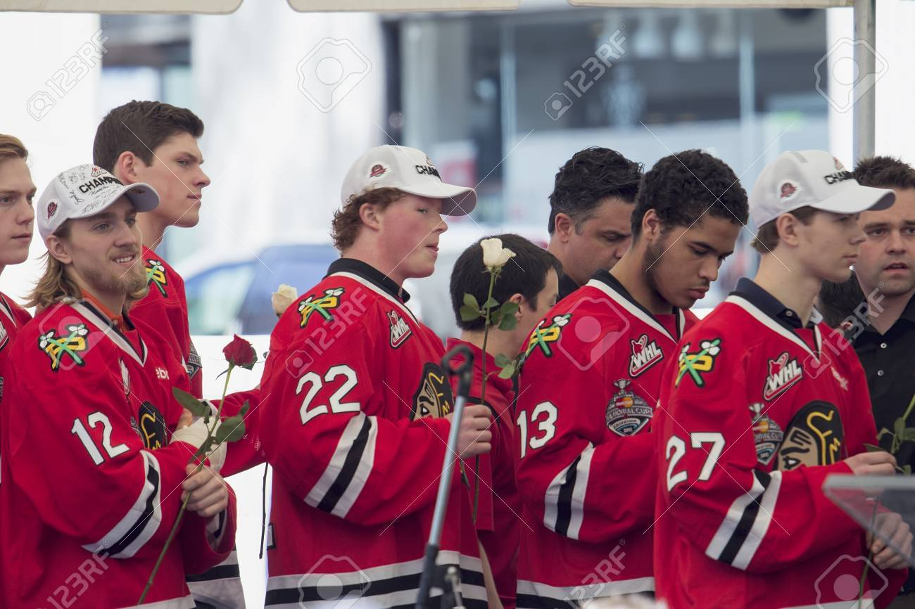 big sale de9de bc231 PORTLAND, OREGON, MAY 14 2013: Portland Winterhawks Ice Hockey..