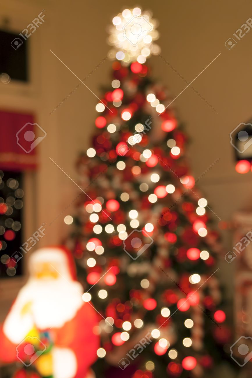 Christmas Tree Decorated With Lights Candy Cane Ornaments Tree Stock Photo Picture And Royalty Free Image Image 34916061