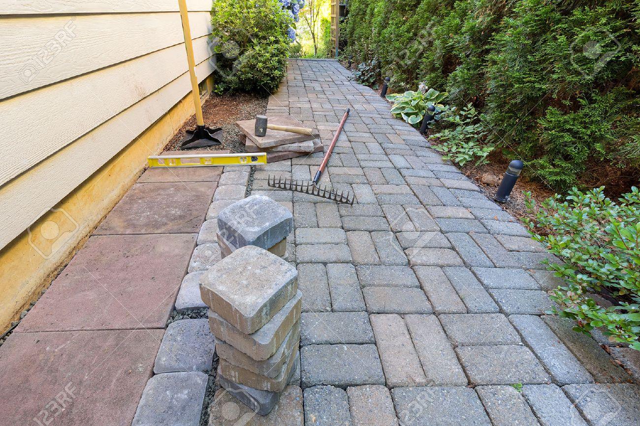 Cour Gravier pour pavés et dalles pour la cour de côté patio hardscape avec du sable