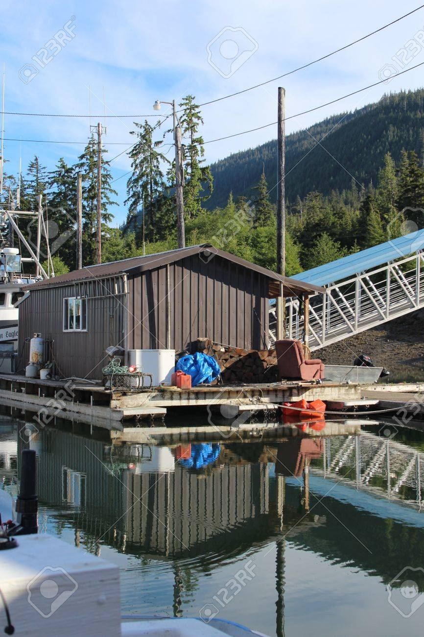 Float House in Wrangell Alaska Harbor