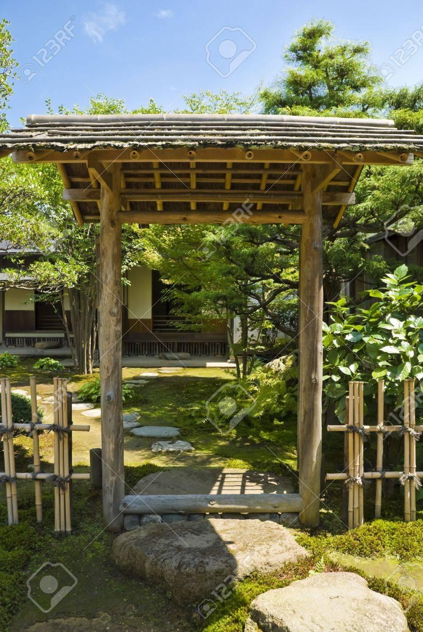 Porte D Entree Du Jardin Japonais