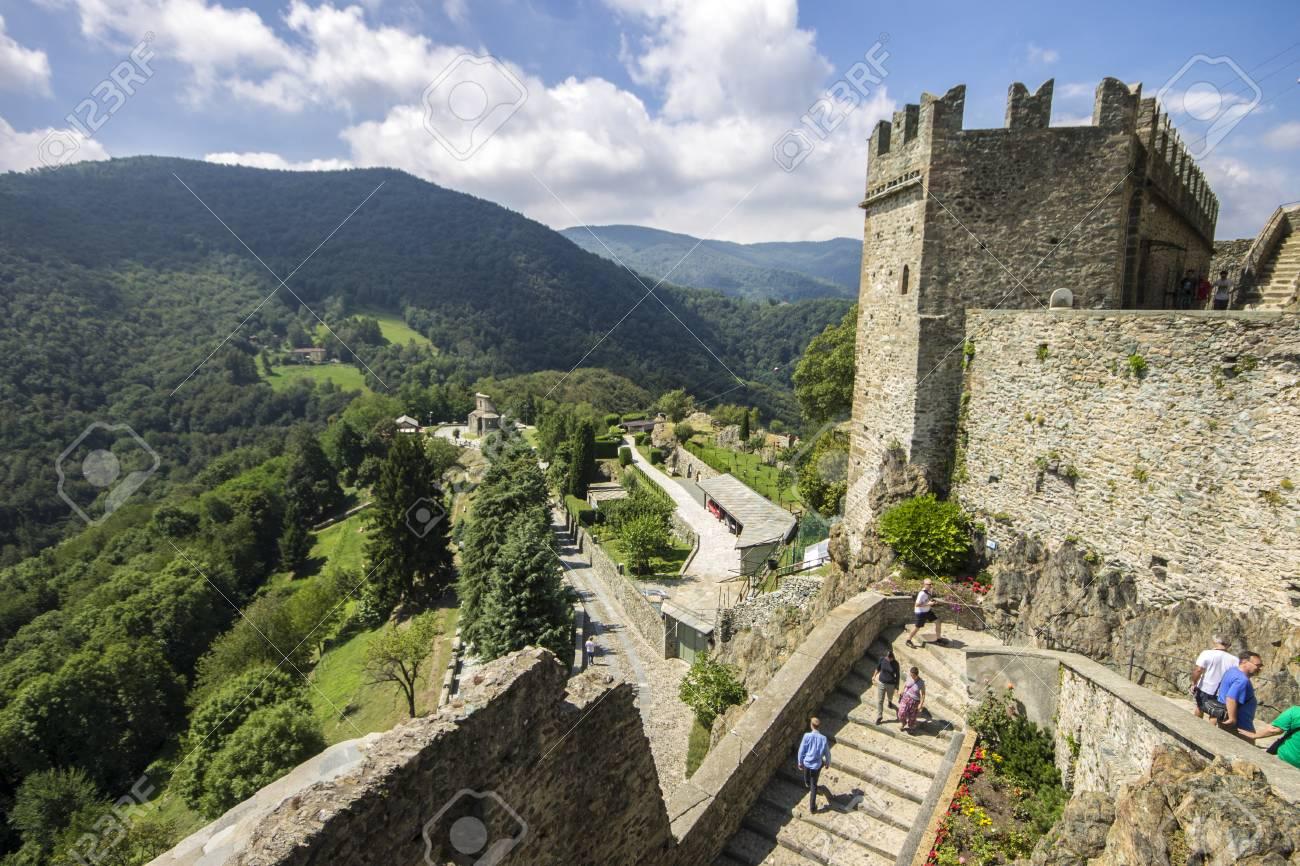The Sacra di San Michele, a religious complex on Mount Pirchiriano..