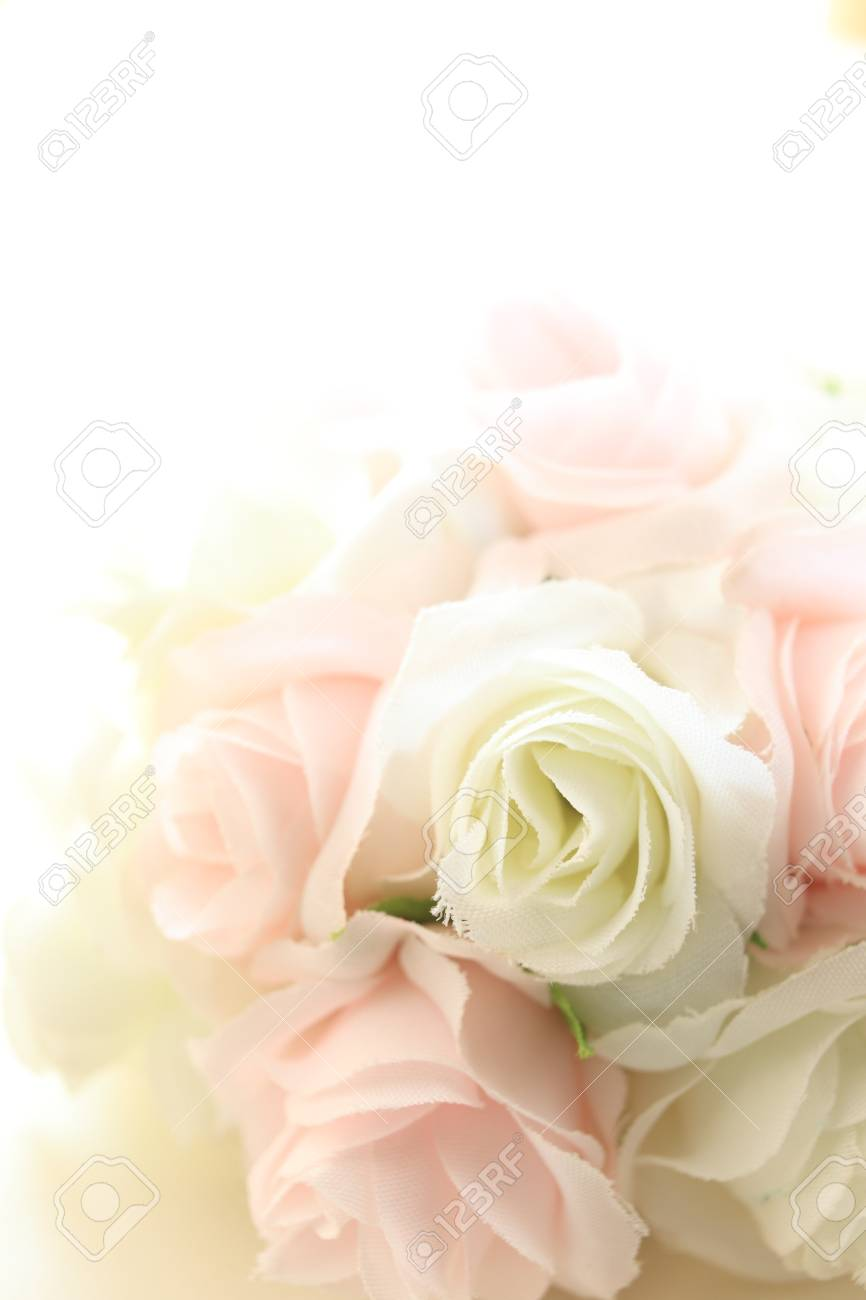 Elegant Ribbon Flower For Wedding Bouquet Image Stock Photo, Picture ...