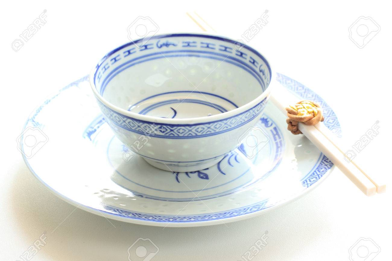 Captivating Chinese Tableware, Rice Bowl And Chopsticks Stock Photo   24703280