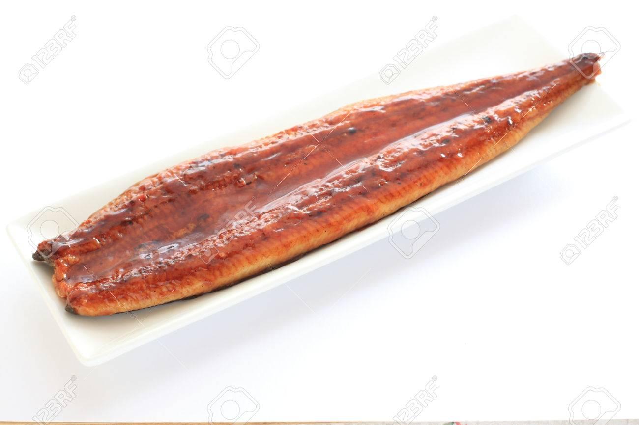 Japanese food, grilled eel - 38861175