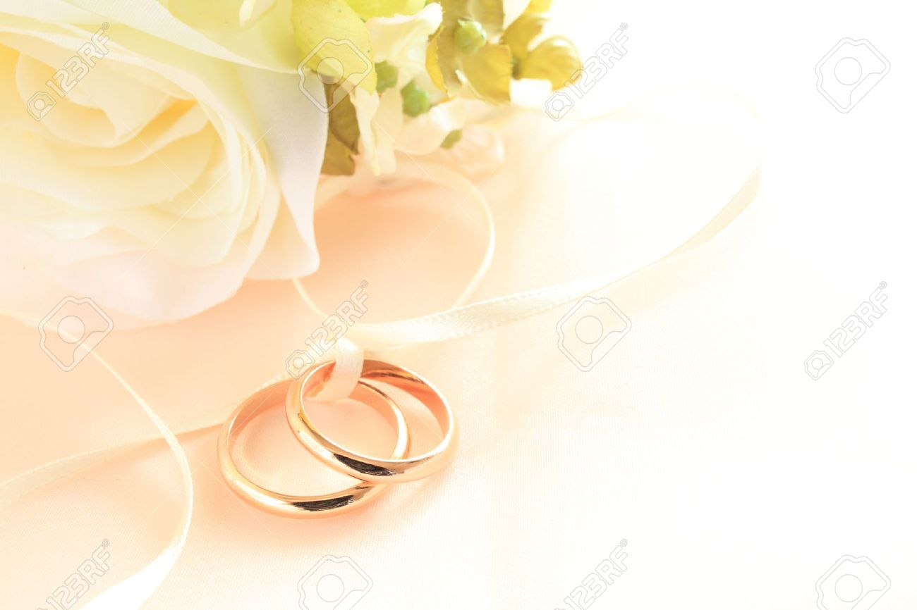 Artificial Flower For Wedding Background Stock Photo Picture And