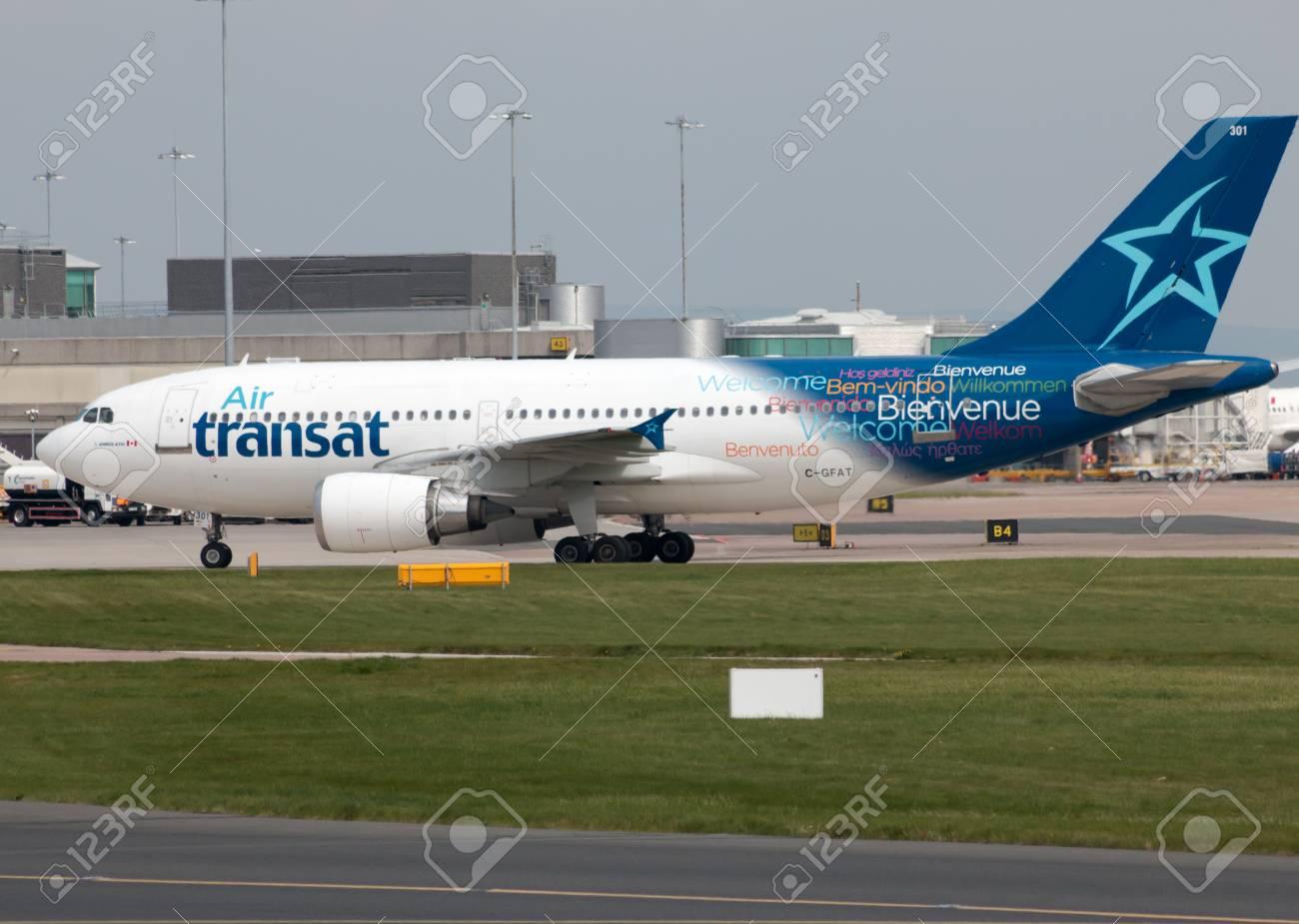 air transat airbus a310 wide body passenger plane c gfat taxiing rh 123rf com Airbus A310 A310 Aircraft Body