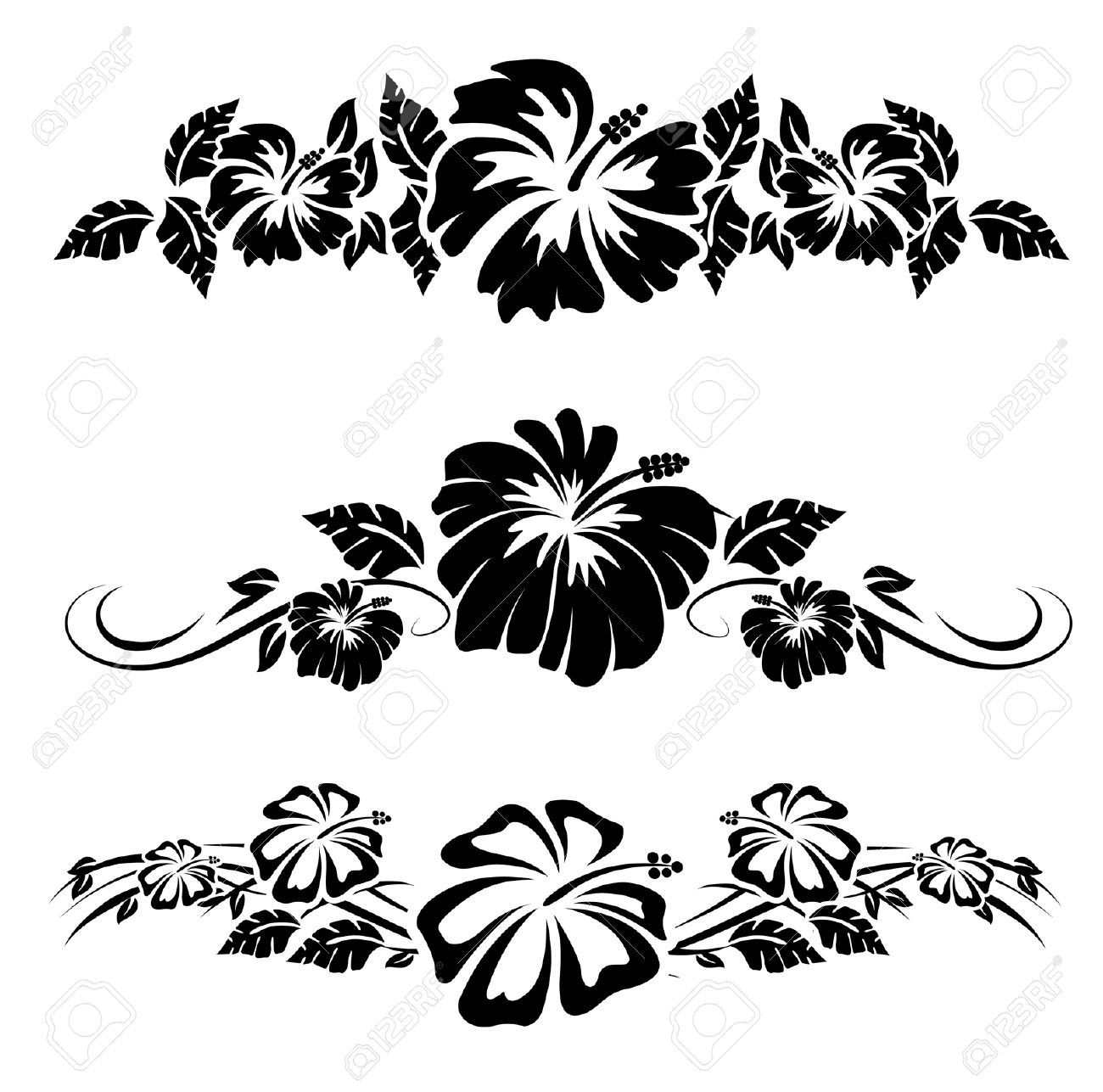 Hawaiian flower stencils comousar hawaiian flower stencils hawaiian tropical flowers izmirmasajfo