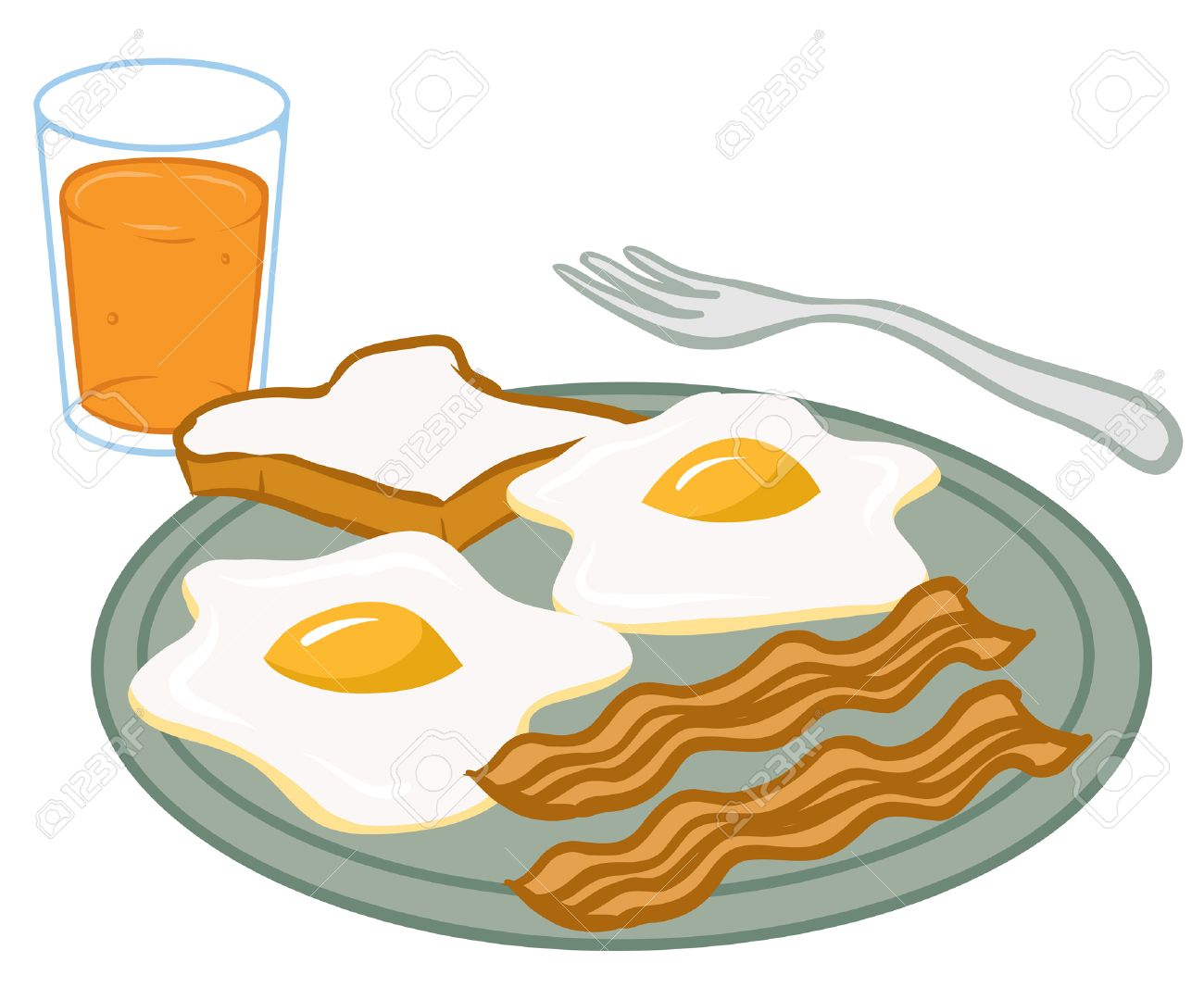 An Illustration Of A Plate Of Breakfast Food Royalty Free Cliparts Vectors And Stock Illustration Image 35459057