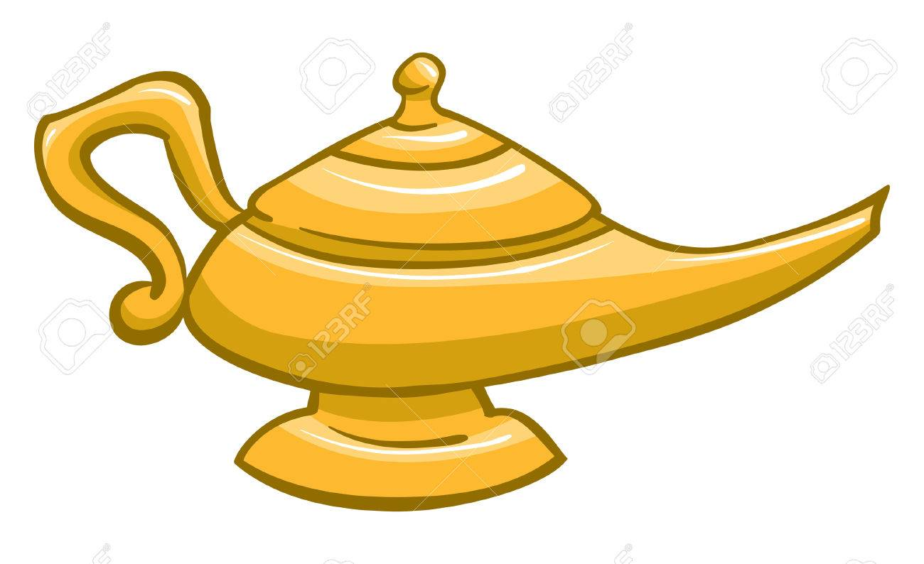 Genie lamp stock photos pictures royalty free genie - An Illustration Of A Gold Genie Lamp Stock Vector 35459971