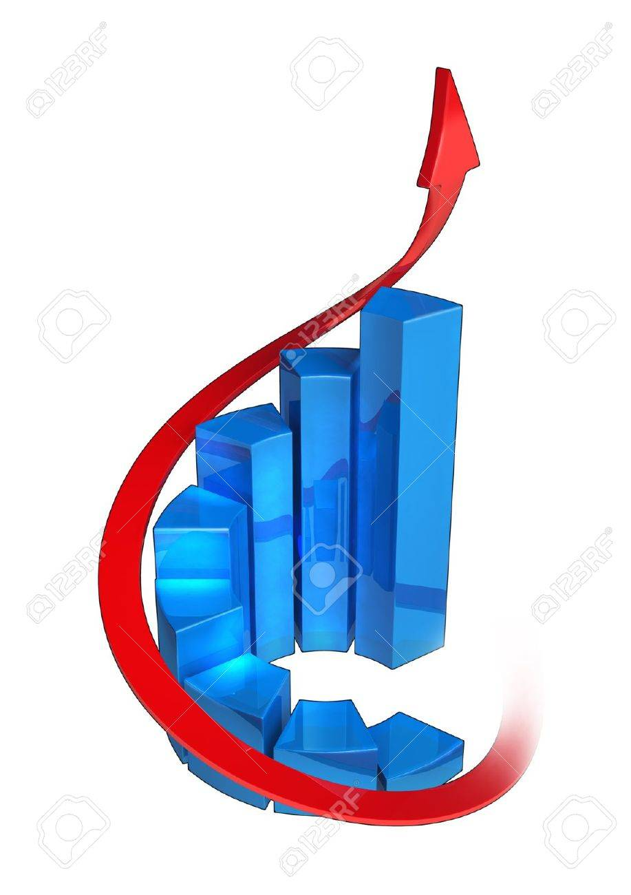 Round bar chart on white background made in 3d software banco de imagens round bar chart on white background made in 3d software ccuart Images