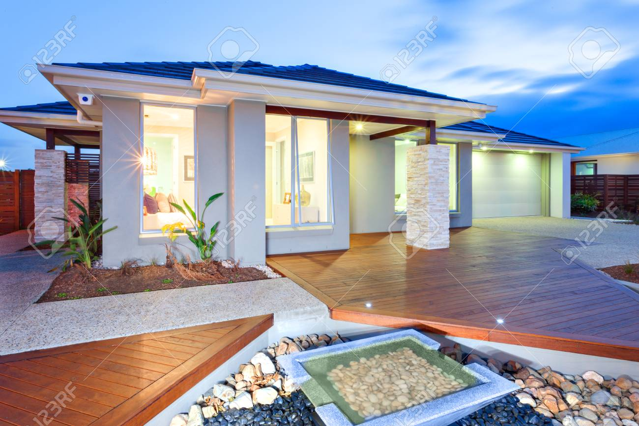 This Luxury House Has Lights On Inside And Outside Due To The