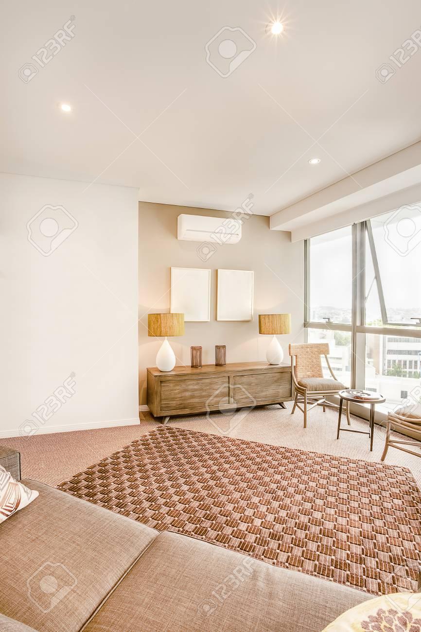 Kreative Wohnzimmer Innenraum Des Luxus-Haus Mit Dekoration ...