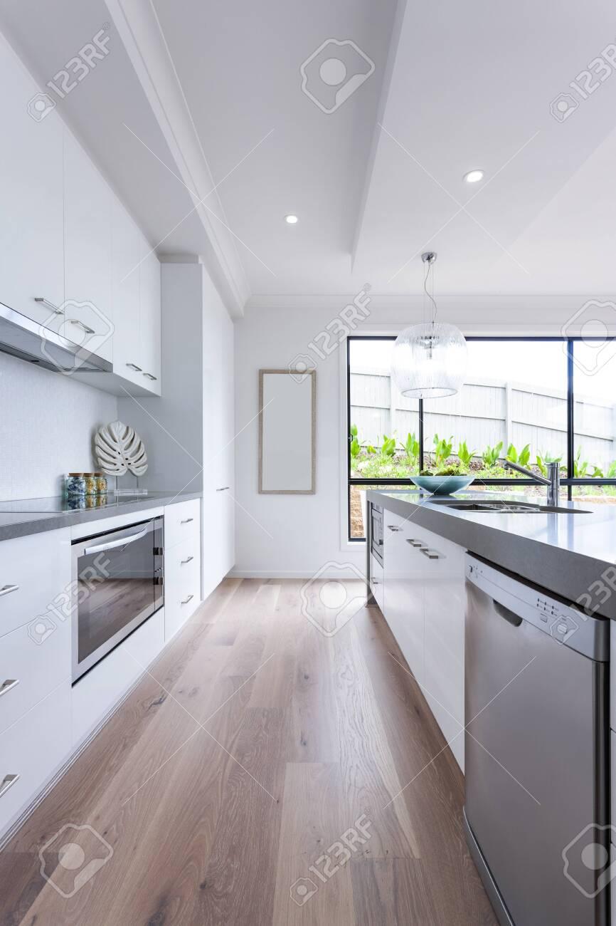 Interior shot of modern and luxury kitchen design - 153501633