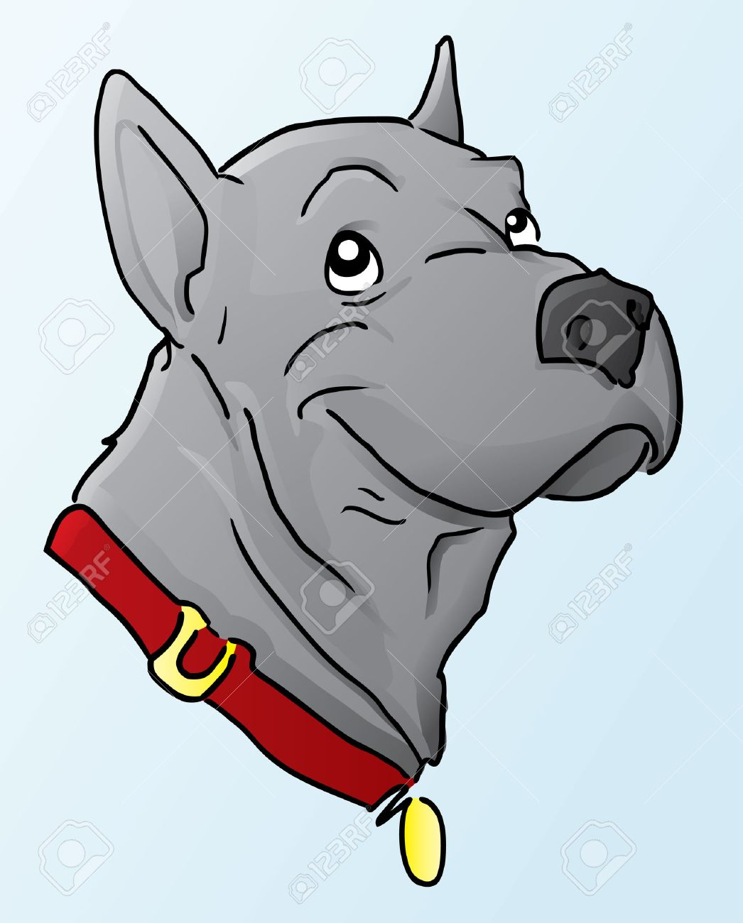 Great Dane Cartoon Stock Vector - 7587485