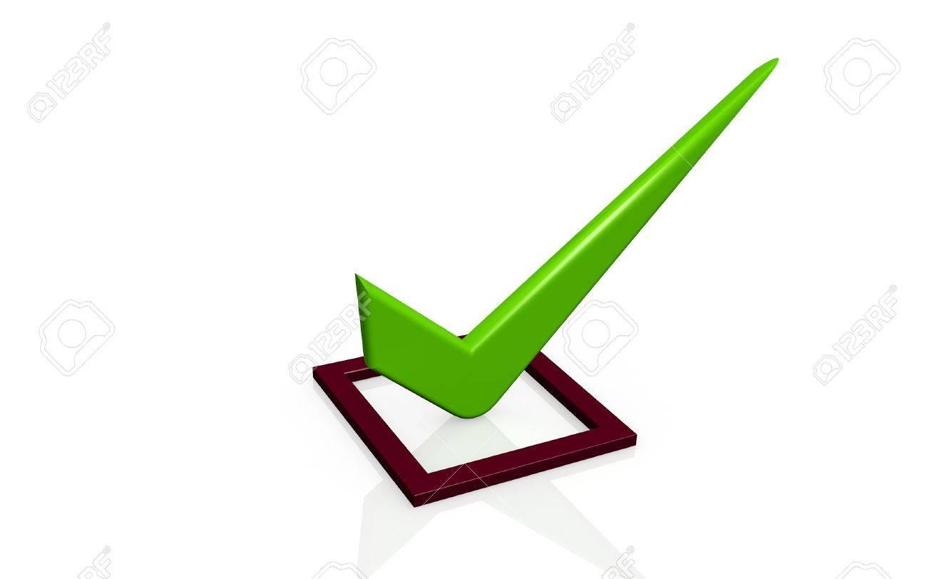 3d image: Check list Symbol white background Stock Photo - 7930576