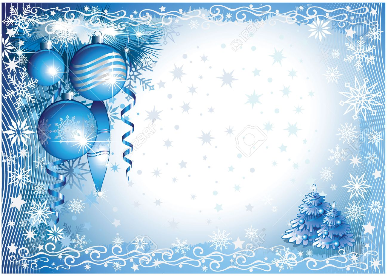 Blue-white Christmas Background Royalty Free Cliparts, Vectors, And ...