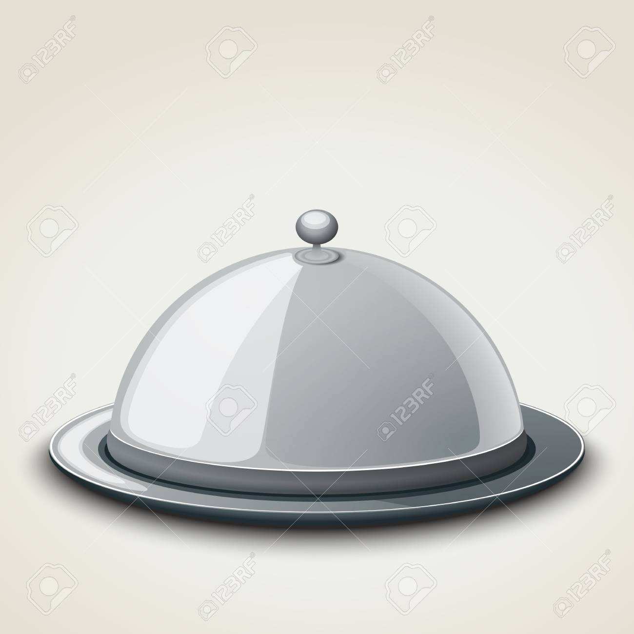 Grey Kitchen Tray For Restaurant, Icon, Isolated On White. Vector ...