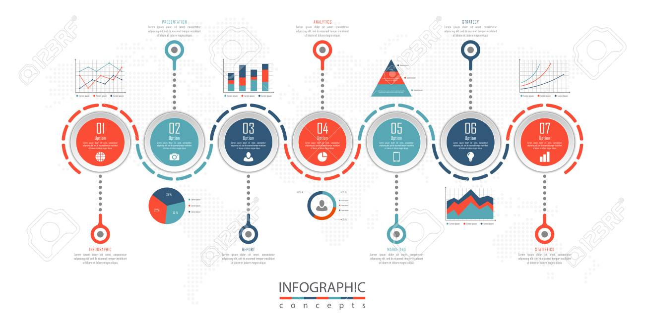 infographic timeline template can be used for chart diagram