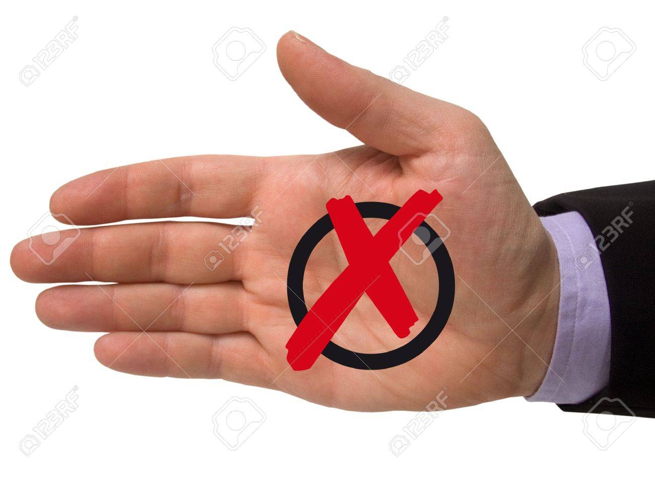 male hand with cross symbol Stock Photo - 6496338