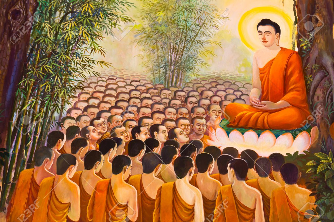 mural buddhist religion painting on wall in the temple stock photo mural buddhist religion painting on wall in the temple stock photo 18306018