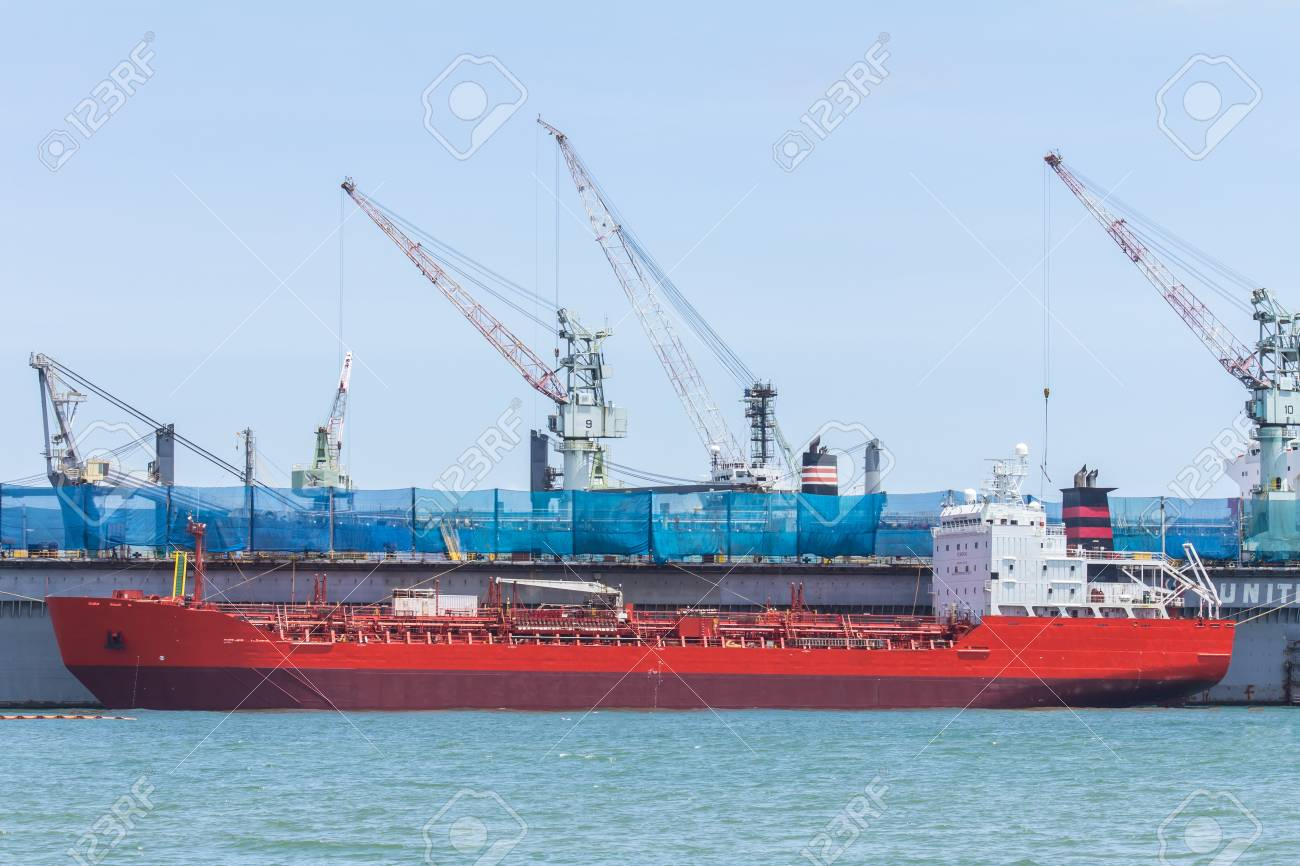 Ship during construction works in a shipyard  Stock Photo - 20345344