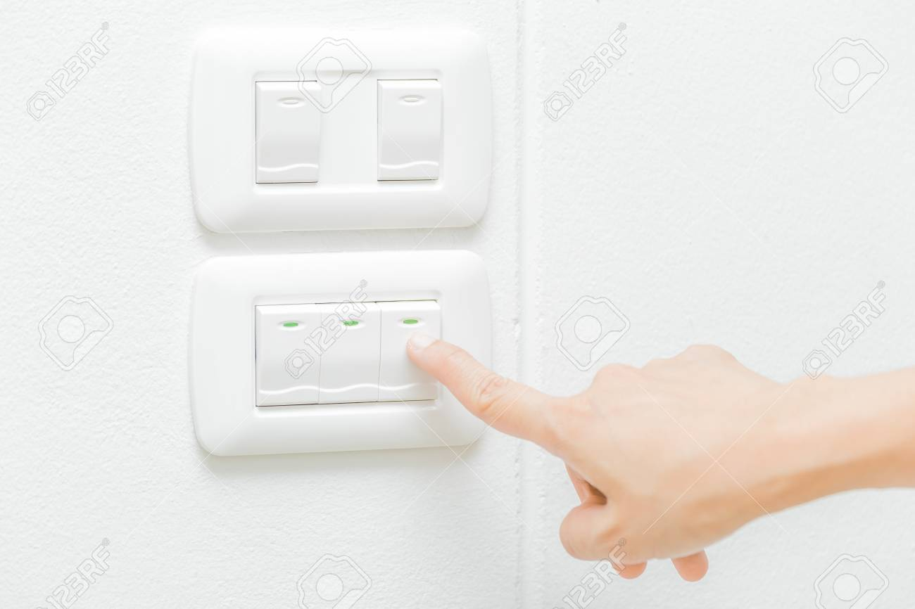 Use right hand turn on electronic light switch