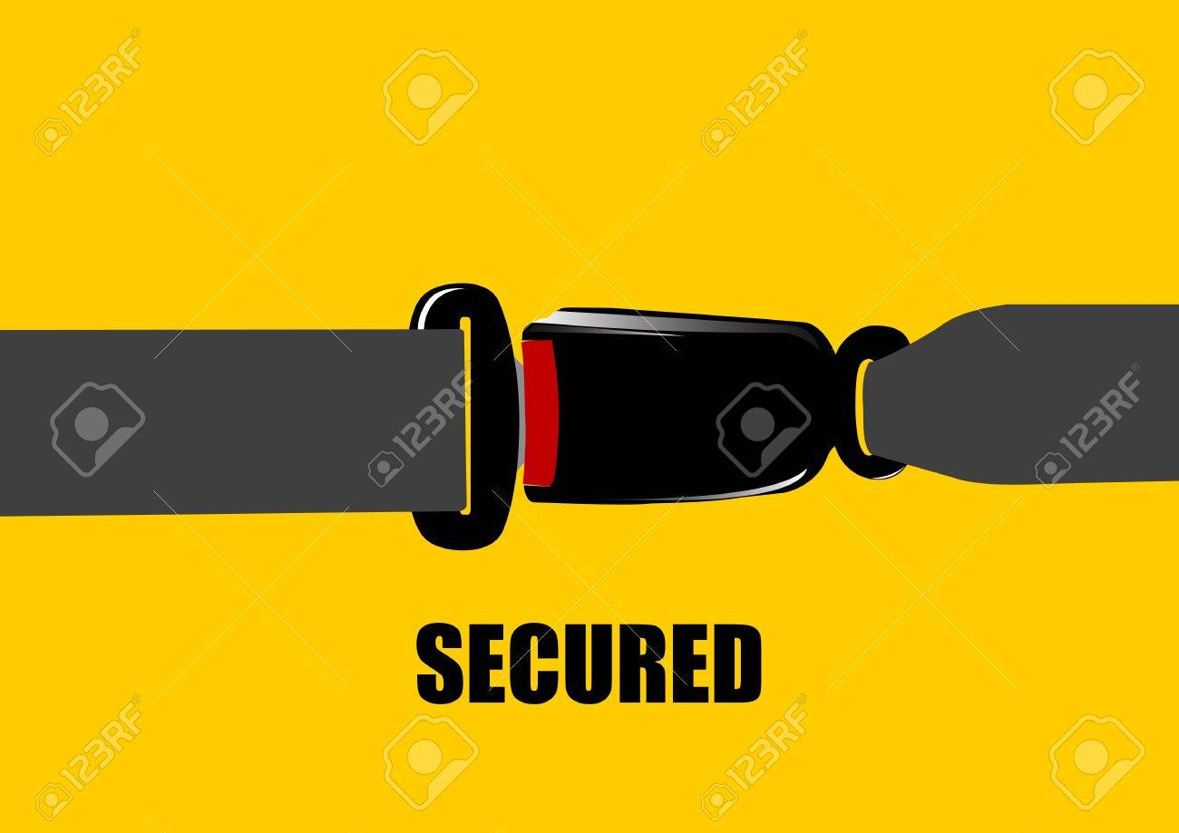 A Vector illustration of seat belt buckle Stock Vector - 12416798