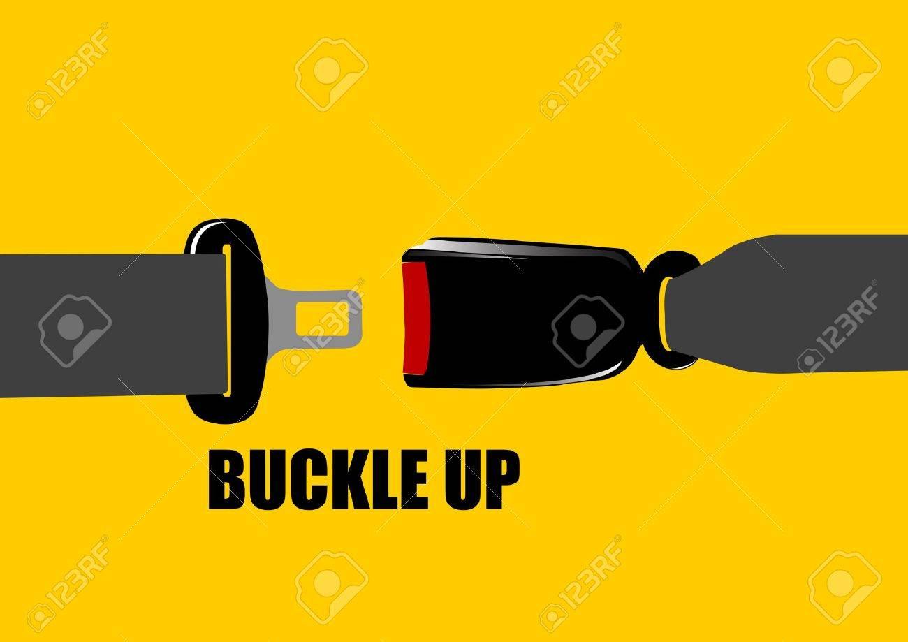 A Vector illustration of seat belt buckle - 12416786