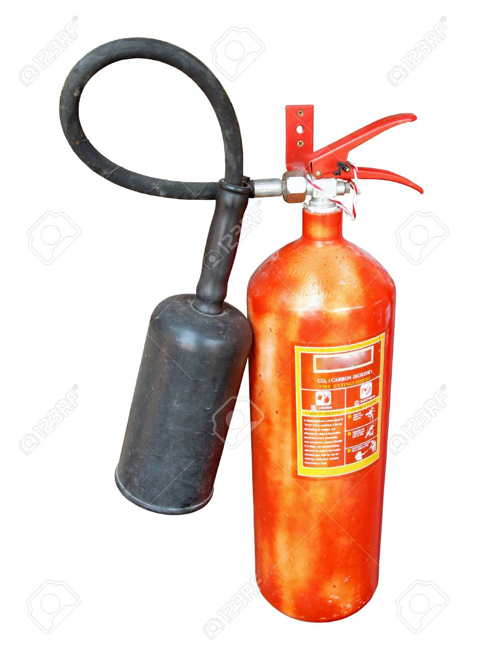 old fire extinguisher on white background Stock Photo - 18221660
