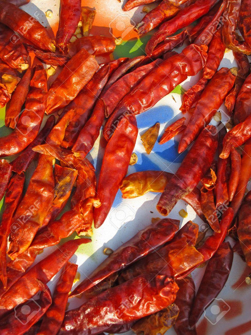 dried chilli - folkways to preserve food of Thai people Stock Photo - 18568043