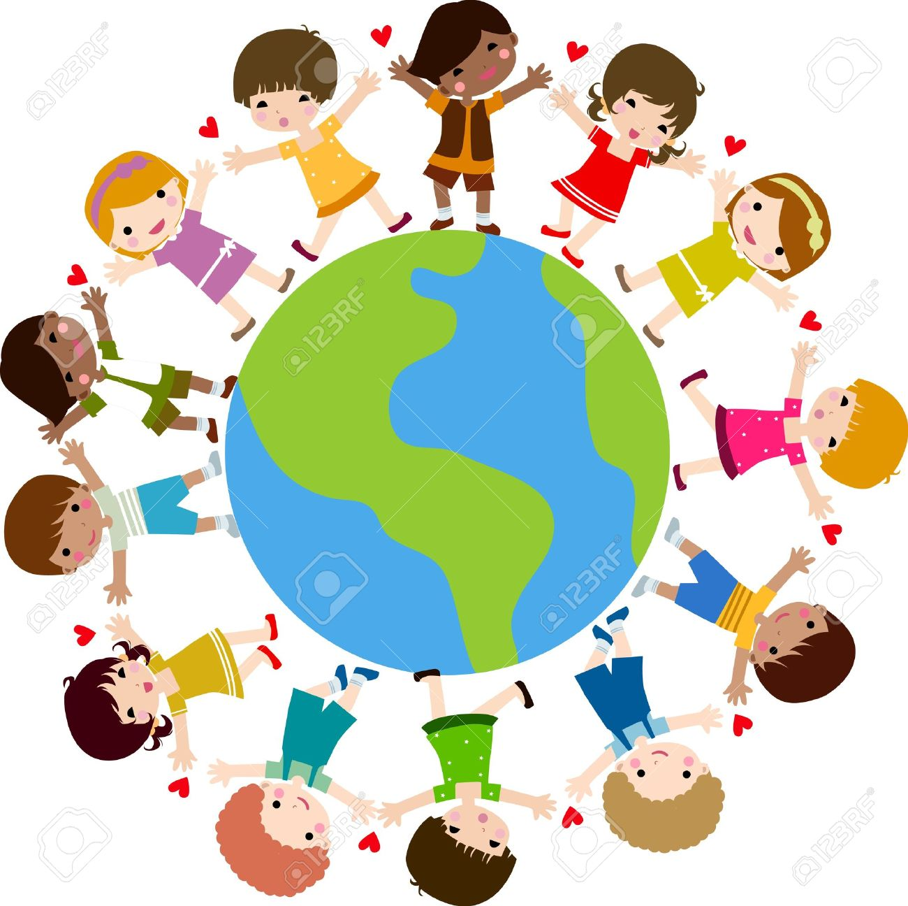 children around the world royalty free cliparts vectors and stock rh 123rf com Food around the World Clip Art kids around the world clip art editable