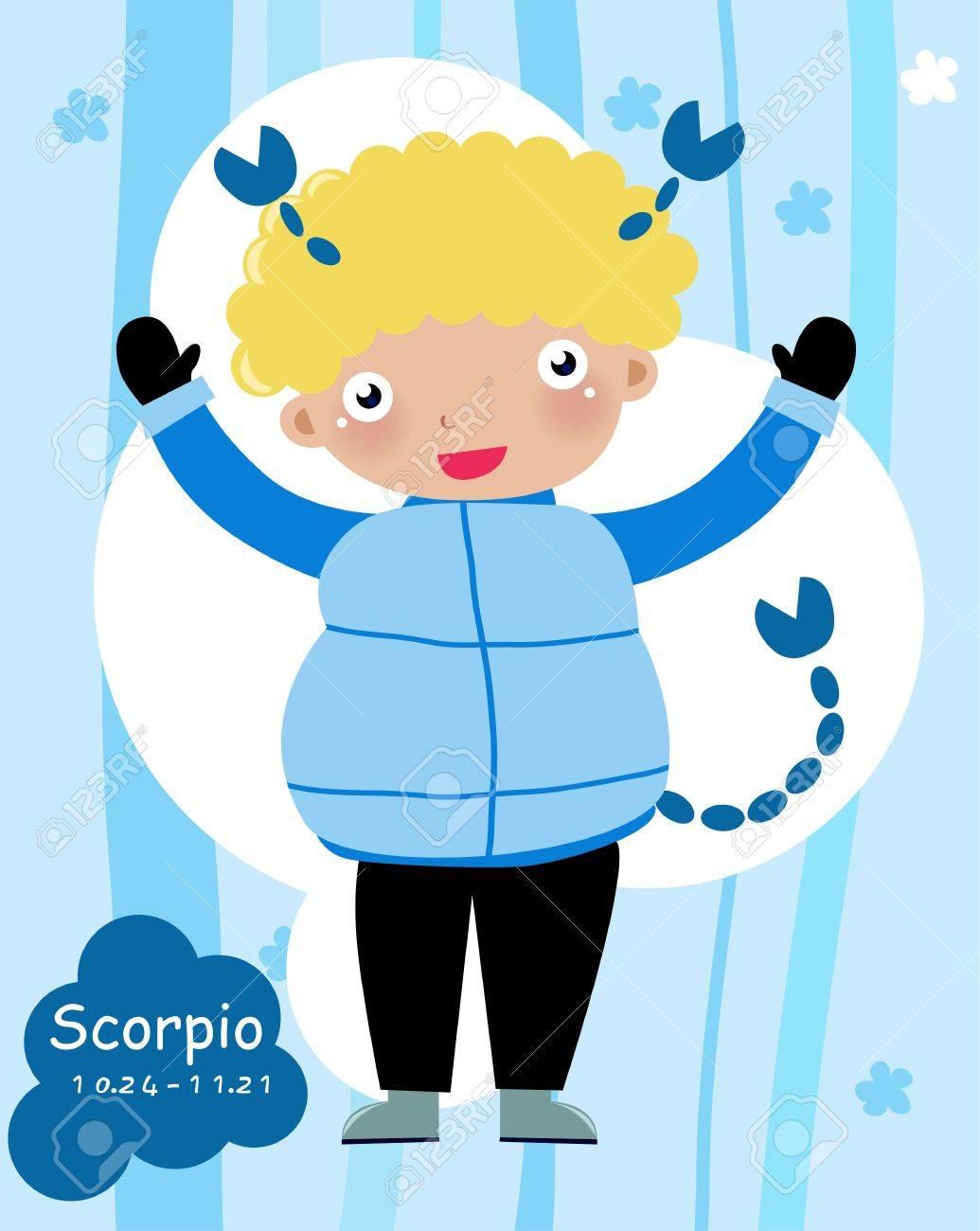 Scorpio Child - (10 of 12) Stock Vector - 8887112