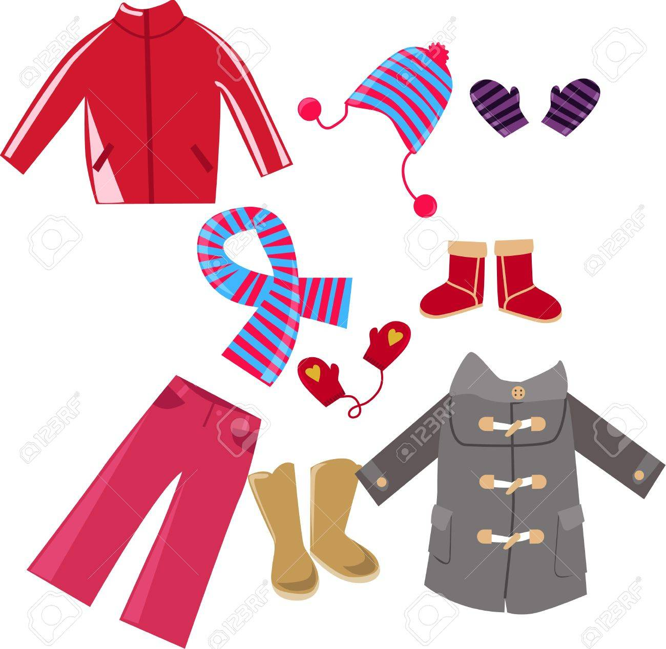 Illustration of very cute child clothes Stock Vector - 8887651