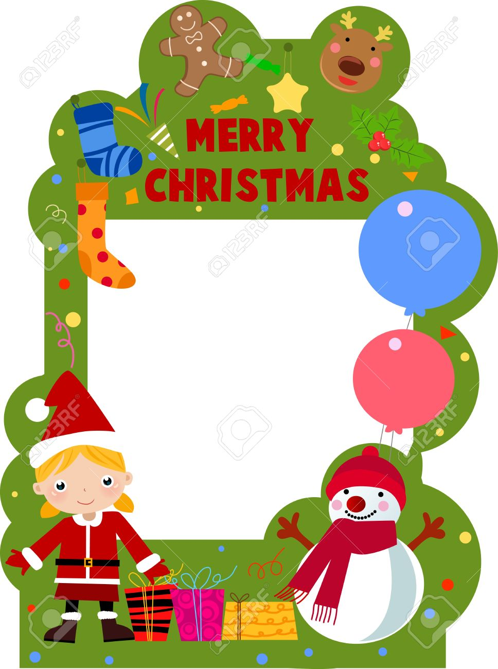Merry Christmas Frame Royalty Free Cliparts, Vectors, And Stock ...