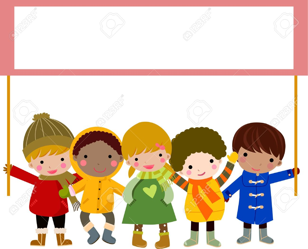 children and banner Stock Vector - 8887578