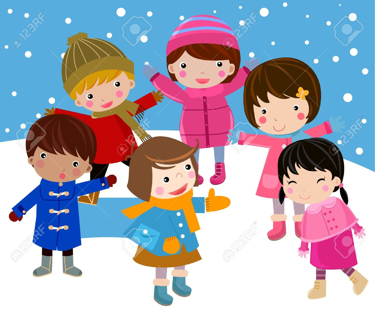 Winter And Children Royalty Free Cliparts, Vectors, And Stock ...