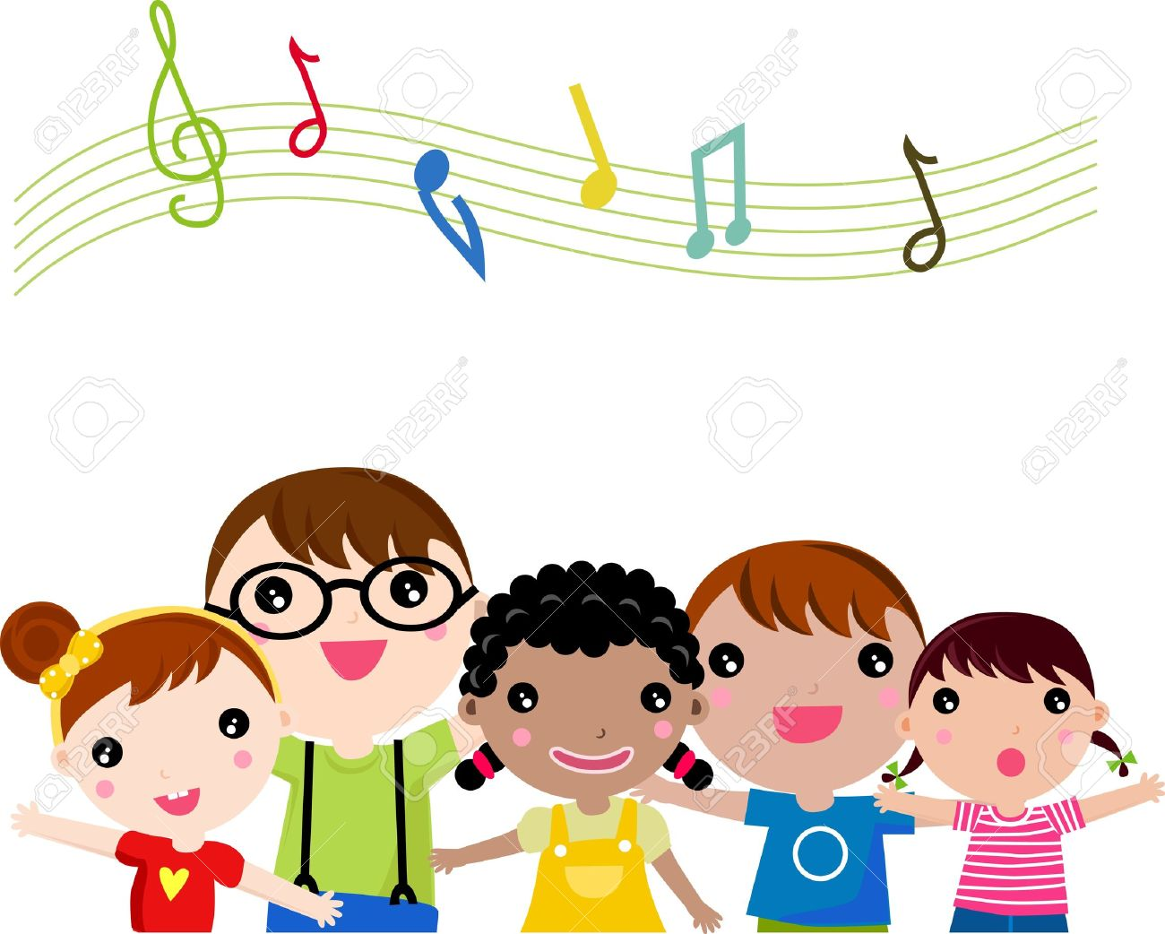 children singing illustration royalty free cliparts vectors and rh 123rf com  children's singing clipart
