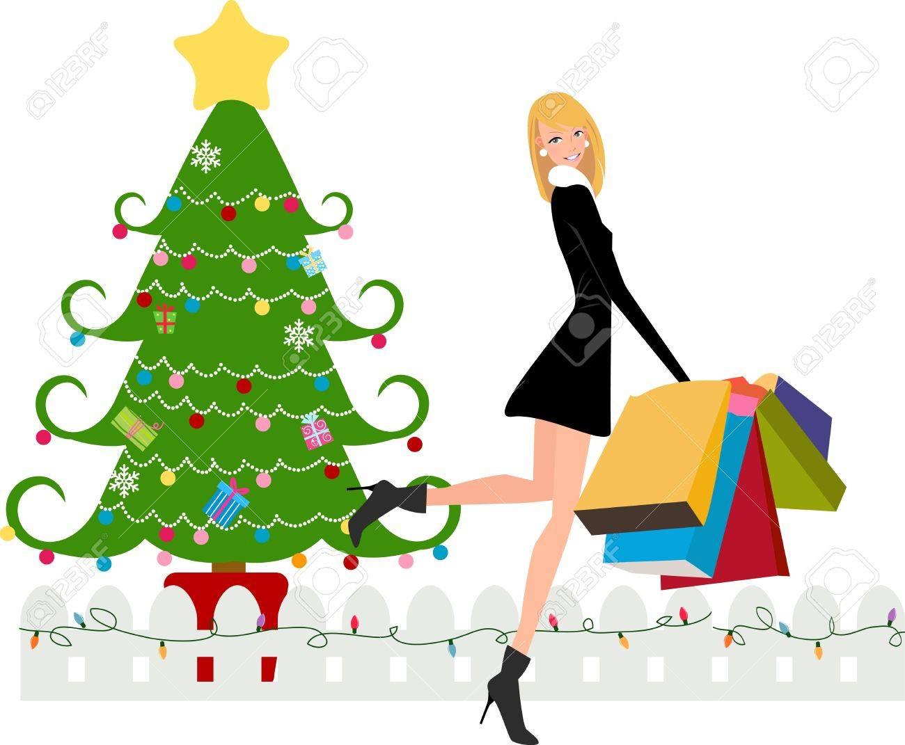 Christmas shopping Stock Vector - 11233728