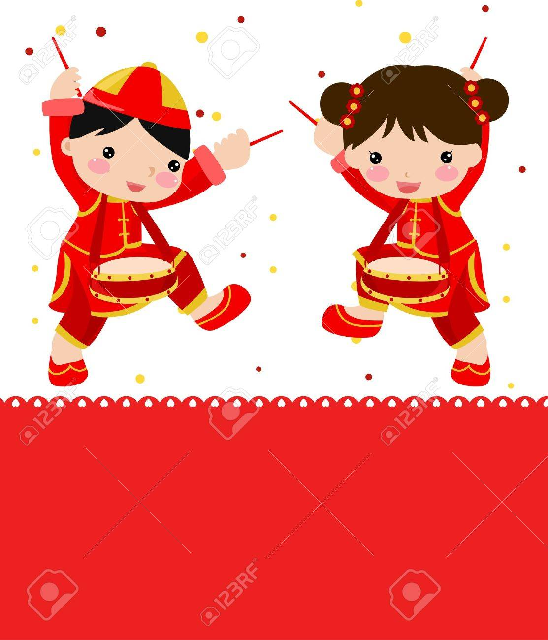 Chinese New Year Cute Dragon Clipart