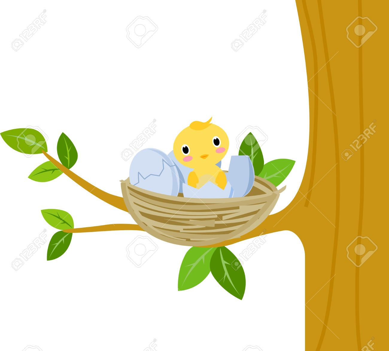 Yellow Baby Bird Clipart