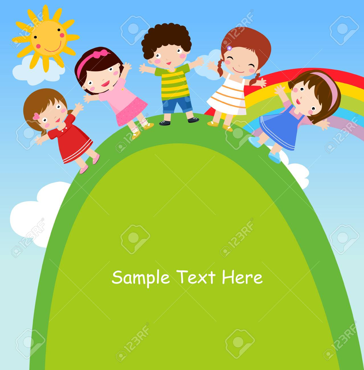 Group of kids Stock Vector - 16721482
