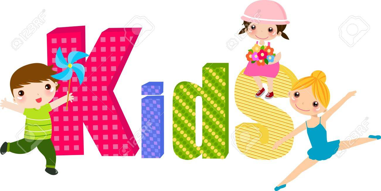 Kids And Word Royalty Free Cliparts, Vectors, And Stock ...